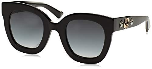 Gucci GG0208S Black/Grey One Size (Gucci Sunglasses Grey Womens)