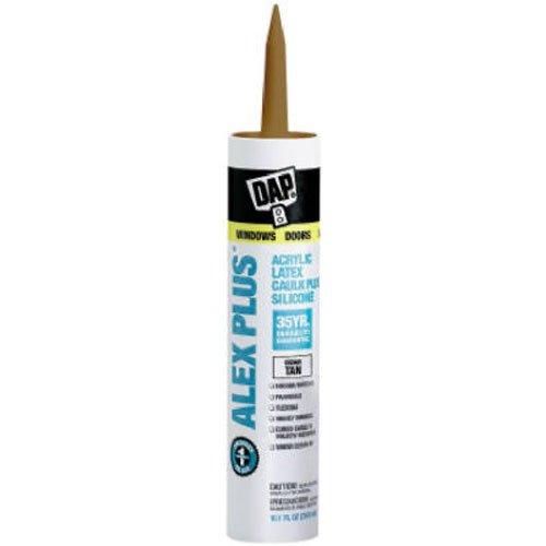 Dap 18122 Acrylic Latex Caulk with Silicone, 10.1-Ounce, Cedar Tan