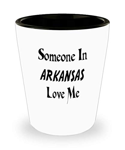White Ceramic Shot Glass Mug Custom Home State Mug Custom Arkansas Mug Custom State Mug Going Away Gift State Mugs Moving Away State Gift Someone Love ()