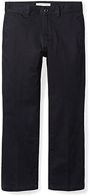 Amazon Essentials Boys Uniform Straight-Fit Flat-Front Chino Khaki Pants