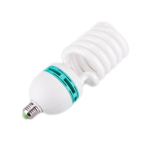- Fovitec - 1x 105 Watt Daylight Fluorescent Light Bulb for Video & Photography - [1 Pack][105 W][CFL][90+ CRI][5500K Full Spectrum]