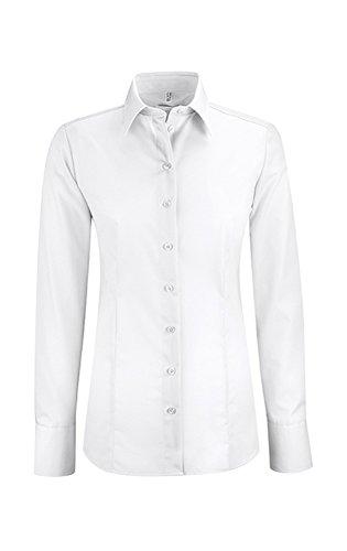 Mujer Larga Manga Para Clásico Camisas Weiß Greiff xwpq40X