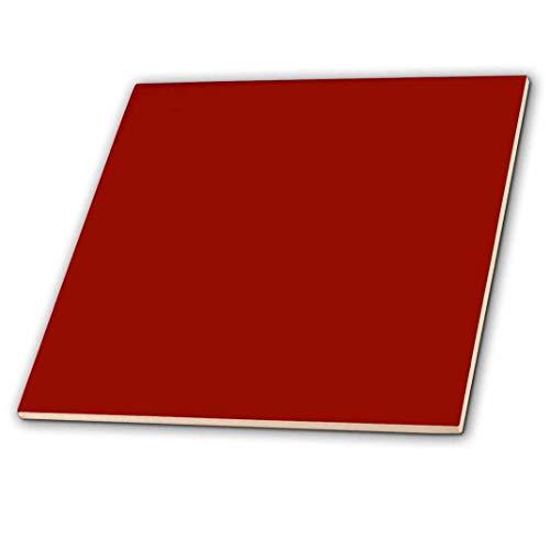 (3dRose ct_159880_1 Burgundy Red Dark Marroon Russet Fire-Brick Dark-Barn Red-Brown Plain Simple Solid Color Ceramic Tile,)
