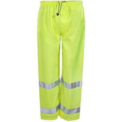 Brite Safety Style 5210 Hi Vis Reflective Construction Safety Pant - 150 Denier Polyester with PU Coating Reflective Pants, ANSI 107 Class E Compliant Rain Gear for Men and Women (3XL)