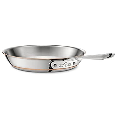 All-Clad 6112 SS Copper Core 5-Ply Bonded Dishwasher Safe Fry Pan / Cookware, 12-Inch, Silver