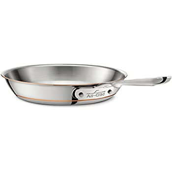 allclad ss copper core 5ply bonded dishwasher safe fry pan cookware 12inch silver