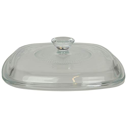 """Corning Ware / Pyrex Clear Square Glass Lid ( Clear ) ( 6 1/2"""" Width ) ( A-7-C )"""