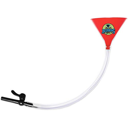 Large Beer Bong Funnel with Valve (3' Long) Fun for College Parties, Tailgating, Spring Break, and Drinking Games | Kink-Free Tube, Leak-Resistant Valve | Custom Colors -