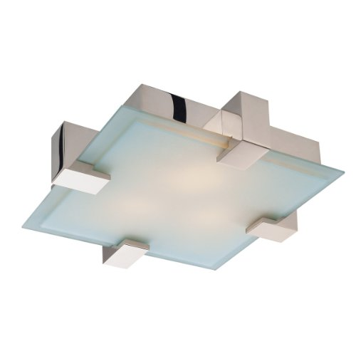Sonneman 3680.01, Dakota Flush Mount Ceiling Lighting, 4 Light, 200 Watts, Polished Chrome - Dakota Ceiling Light