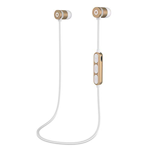 505 Apple (Bluetooth EarphoneKshion Novelty Trendy Wireless Bluetooth4.2 Sport Headphones Earphones Headset for iPhone/Samsung (Gold))