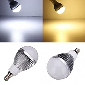 Dimmable E14 LED Bulbs 5W White/Warm White 5 LED Globe AC 85-260V --- Color:White
