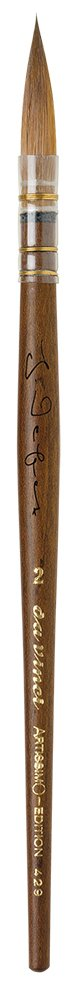 da Vinci 429-2 Artissimo Limited Edition Kolinsky Sable Quill Kebony Wood Handle, Size 2 by DaVinci
