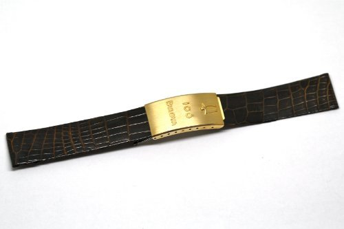Brown Grain Croco (NOS VINTAGE 18MM BROWN CROCO GRAIN LEATHER DEPLOYMENT BUCKLE WATCH BAND FITS ACCUTRON)