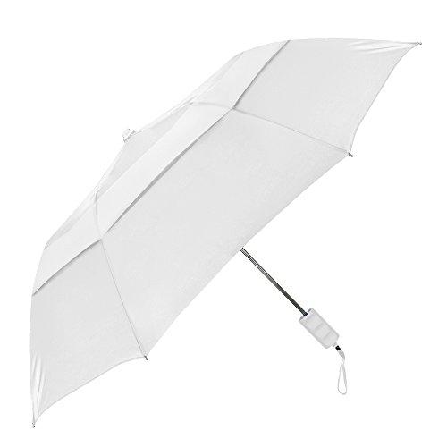 StrombergBrand The Vented Windproof Umbrella White ()