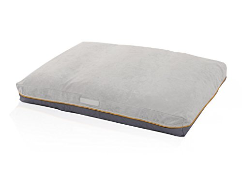 LaiFug Double-side Memory Foam Pet/Dog Bed(Large43''x28''x5'', Silver/Grey)with Removable Washable Cover - Dog Bed Large Washable Cover