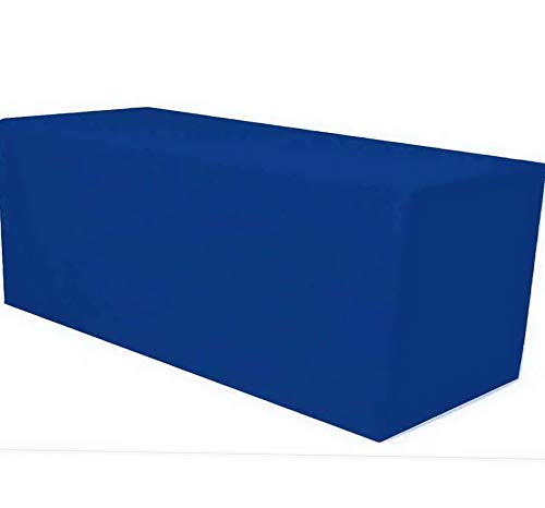 Mikash 8 ft. Fitted Polyester Tablecloth Table Cover Wedding Banquet Party Royal Blue | Model TBLCLTH - 43 ()