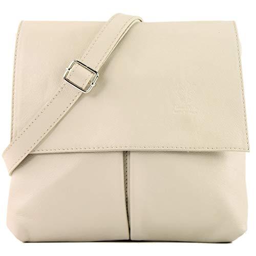 autentica donna pelle Borsa bag avorio T63 beige in messenger dpx1PwqX1