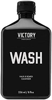Hair and Beard WASH by Victory Barber & Brand | Men's Shampoo Made in the USA| Beard Shampoo and Beard