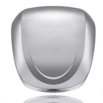 Image of AB High Speed Commercial Eco Automatic Hand Dryer, Carbon Brushed Polished Silver Cover, Heavy Duty Stainless Steel, Compact Design, Easy Installation Warm Wind Hand Blower Hand Dryers
