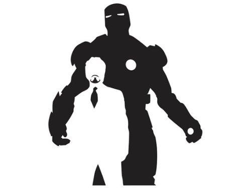 Iron Man Tony Stark Vinyl Decal Sticker | Cars Trucks Vans Walls Laptops Cups | Black | 5.5 X 4.6 Inch | -