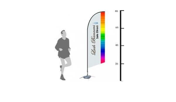 Amazon.com : Custom 8ft UV Bowhead Banner Stand (Double Sided) - Full Color - Hardware Included (Poles and Spike Base) : Office Products