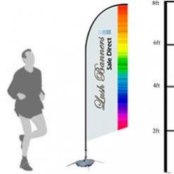 Custom 8ft UV Bowhead Banner Stand (Double Sided) - Full Color - Hardware Included (Poles and Spike Base) by Lush Banners