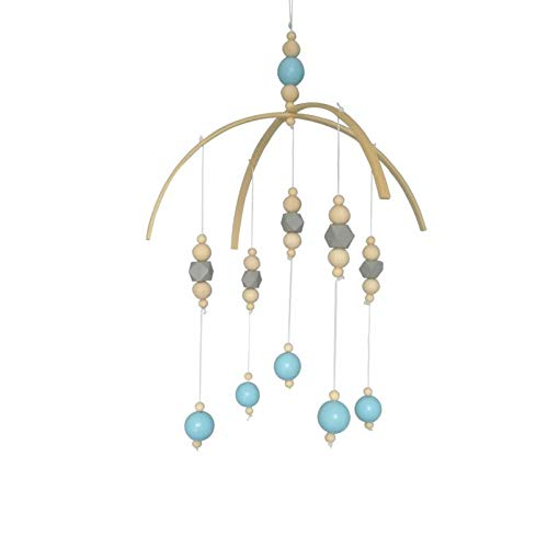 Eaglers Wood Bead Garland Nordic Style Wooden Beads Wind Chimes Baby Bed Hanging Windbell Kids Room Crib Tent Ornament Baby Gift Kids Room Decoration