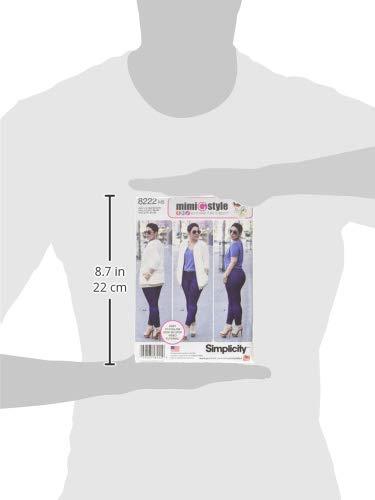 da Cucire Bianco semplicit/à 8222/Mimi g Bomber Giacca e Jeans Skinny Elasticizzati