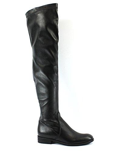 Follie 3092 Divine Black Over Knee for Boot Skin Women Nero Elasticated PdRRwqx