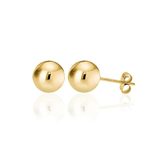 4a6689473 14K Yellow Gold Filled Round Ball Stud Earrings Pushback 9mm – Gold ...