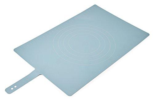 Joseph Joseph 20097 Roll-Up Non-Slip Silicone Pastry Mat with Measurements Lockable Strap 23-inch x 15-inch, Blue