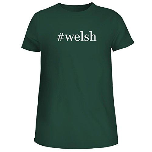 BH Cool Designs #Welsh - Cute Women's Junior Graphic Tee, Forest, (Webkinz Jack)