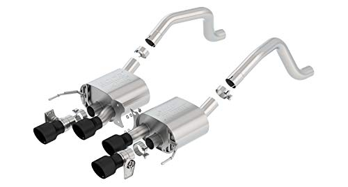 (Borla 11903CB ATAK Axle-Back Exhaust System 2.75 in. Incl. Mufflers/Hardware/4.25 in. Rolled Angle-Cut Black Ceramic Tip NPP Dual Mode Exhaust Quad Center Rear Exit ATAK Axle-Back Exhaust)