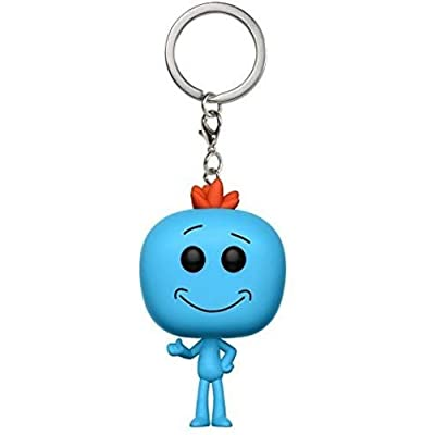 Funko Pop Keychain Rick and Morty Meeseeks Action Figure: Funko Pop! Keychain:: Toys & Games