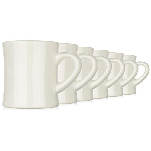 Coletti COL104 Vintage Restaurant Coffee Mugs | Coffee Mug Set of 6, 10 oz ()