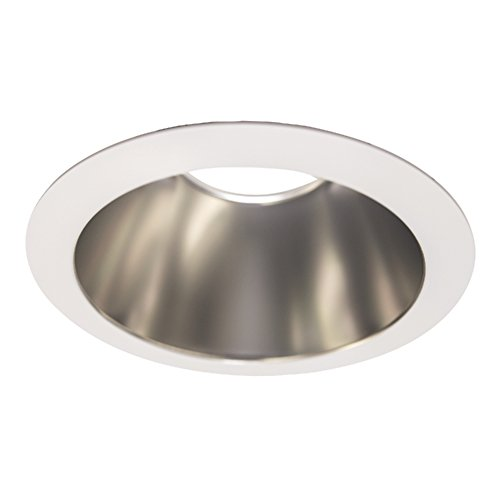 Halo 61VCWF LED Reflector, Vertical, Self Flanged, Specular Clear, White Flange, 6