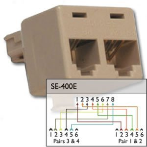 400e Cat5 Splitter - SUTTLE 1-Cat5 Splitter
