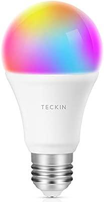 lámpara Home IFTTTE27 cálida LED TECKIN y Bombilla 2800k luz 6200kRGB 8Wno Funciona con color con cambiable Inteligente se móvilGoogle WiFi rxdBCeo