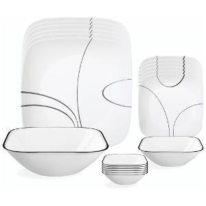 Corelle Simple Lines Glass Dinnerware Set 21-Pieces Black  sc 1 st  Amazon.in & Buy Corelle Simple Lines Glass Dinnerware Set 21-Pieces Black ...