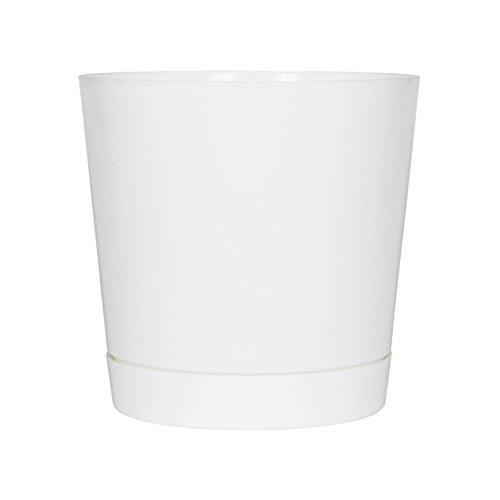 Full Depth Round Cylinder Pot, White, 12-Inch