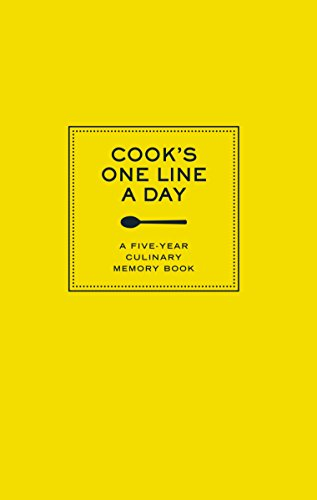 Cook's One Line A Day: A Five-Year Culinary Memory Book