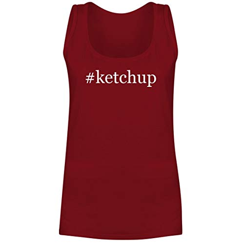 #Ketchup - A Soft & Comfortable Hashtag Women's Tank Top, Red, ()