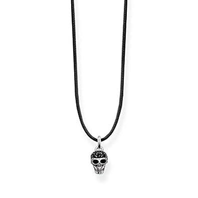 9fbfa590b Thomas Sabo Women Choker Skull 925 Sterling Silver, Blackened  LSKE009-889-11: Amazon.co.uk: Jewellery
