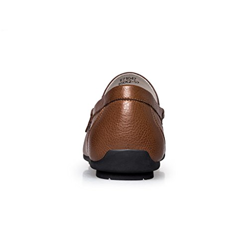 ZRO Men's Summer Casual Buckle Slip-On Hollow Breathable Brown US 8.5 by ZRO (Image #3)