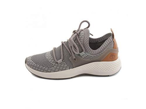 Timberland Womens FlyRoam Go Knit Chukka Sneaker, Gull Grey, Size 5.5