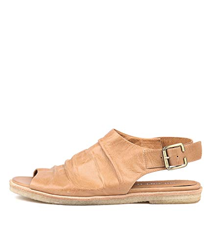 SILENT D Jayce Womens Flat Sandals Summer Sandals Tan Leather
