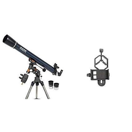 Celestron Adjustable-Height Tripod Reflector Telescope for Beginners BONUS Astronomy Software Package AstroMaster 130EQ Newtonian Telescope Fully-Coated Glass Optics