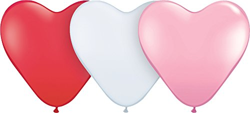 Mayflower Distributing Heart Latex Sweetheart Assorted Balloons, 15