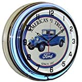 Ford Truck, Neon Clock, Bright Double 18 inch Neon