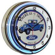 Ford Truck, Neon Clock, Bright Double 18 inch Neon by Telstar Neon